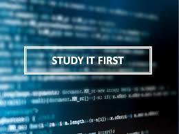 """Study iT First"""