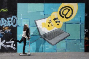 Thematic photos on the 10 priorities of Juncker's Commission: graffiti - A connected digital single market